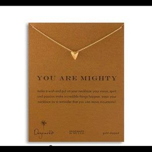 """NWT Dogeared """"You Are Mighty"""" Pyramid Necklace"""